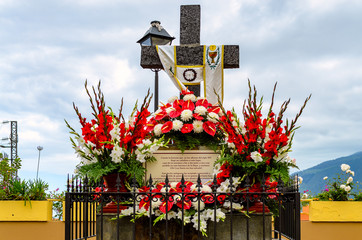 Fiesta de la Cruz a holiday in Tenerife- Día de la Cruz is the name of the day the crosses are decorated. My pictures show the diversity of these works of art from the cities of Puerto de la Cruz and