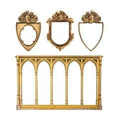 Set of gothic frames for paintings, mirrors or photos
