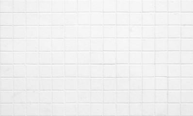 White Grunge Mosaic Toilet Wall Texture Background.