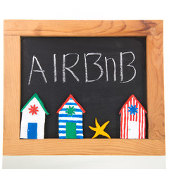 Airbnb on blackboard
