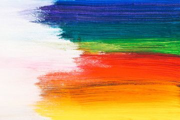 Colorful brush strokes
