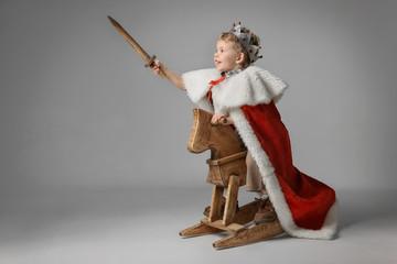Little boy playing knight Fototapete