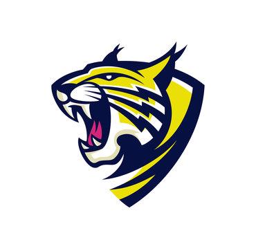 lynx wildcat logo esport mascot illustration