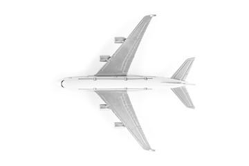 Türaufkleber Flugzeug Model plane, airplane isolated on white background