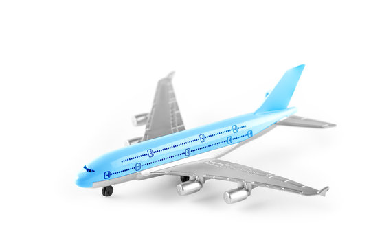 Model plane, airplane isolated on white background