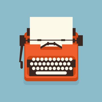 The old styled vintage typewriter.