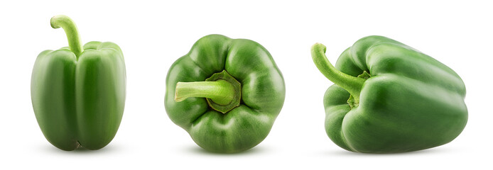 Set green bell pepper Fototapete