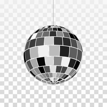 Disco or mirror ball icon. Symbol nightlife. Retro disco party. Vector illustration isolated on transparent background