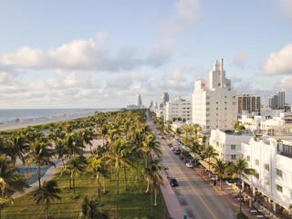 Top view of Ocean Drive. South Beach Miami