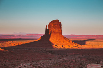 Wall Mural - Monument Valley at sunset, Arizona, USA