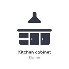 kitchen cabinet icon. isolated kitchen cabinet icon vector illustration from kitchen collection. editable sing symbol can be use for web site and mobile app