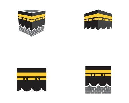 kaaba vector illustration icon