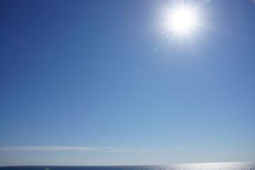 Obraz niebo, morski, woda, oceanu, blękit, chmura, charakter, horyzont, słońce, krajobraz, lato, plaza, piękne, sundown, światło słoneczne, spokojny, wschody, aura, abstact, krajobraz nadmorski, iskra, podr - fototapety do salonu