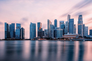 Business district in Singapore City Fototapete