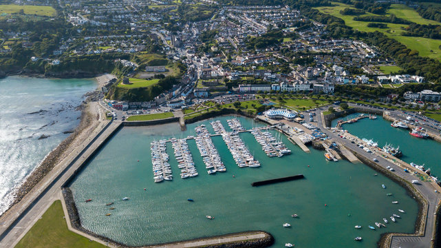 Aerial view of Howth Harbour and village