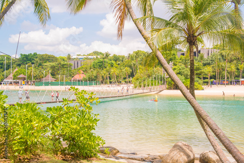 Palawan Beach In Sentosa Island Singapore Stock Photo And