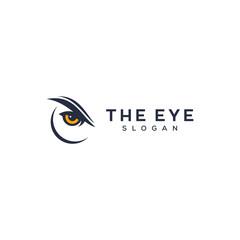owl eyes concept logo design
