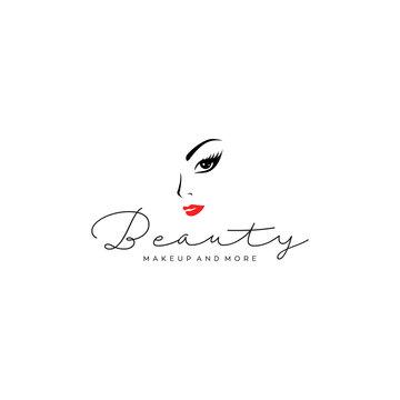 beauty lash makeup logo design