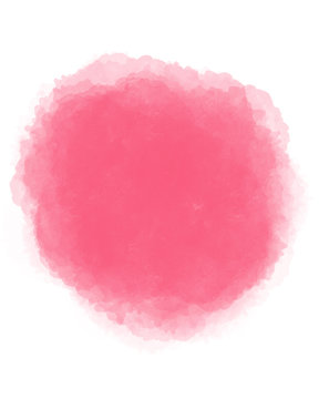 watercolor brush pink