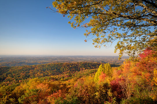 Tennessee Valley from Foothills Parkway West in Autumn