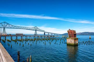 Astoria Megler Bridge and Ruined Pier
