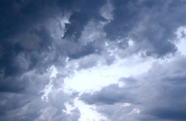 Sky-overlays. Dramatic sky and bad weather with dark clouds.