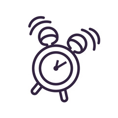 alarm clock isolated icon