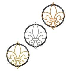Fleur-de-Lis Gold, Silver, Bronze sign