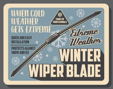 Car auto parts accessories, winter wiper blades
