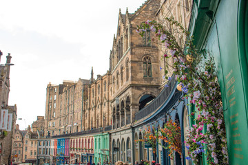 Victoria Street in the Old Town Edinburgh Scotland
