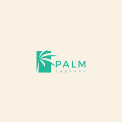 Palm leaf template logo design inspiration