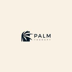 Palm leaf template logo design inspiration