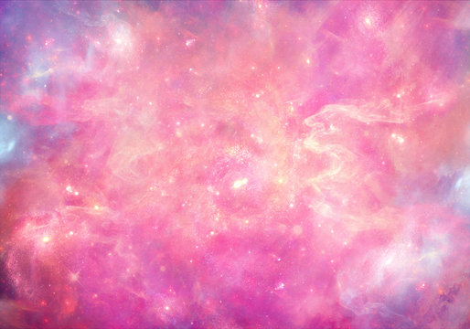 Abstract smooth unique pink nebula galaxy artwork background