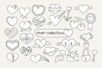 Cute heart design set