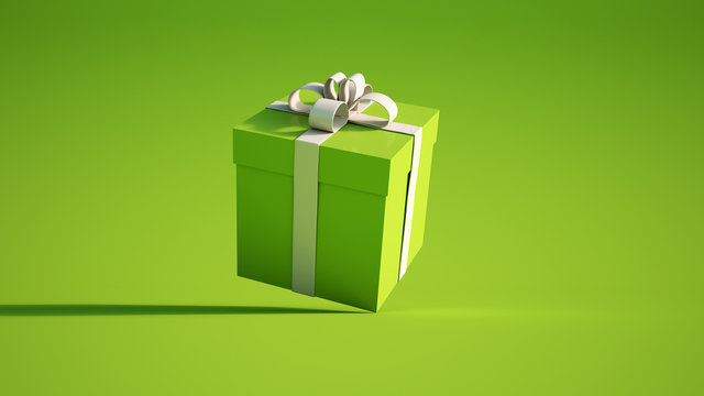 green and white giftbox