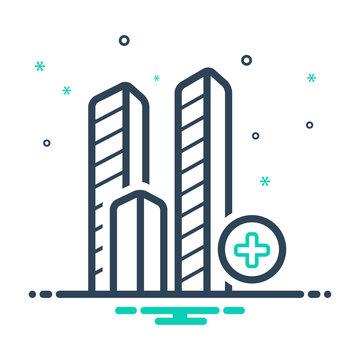 Mix line icon for bulding  landmark