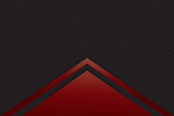 Red and black Abstract material frame layout modern tech with layer design template background