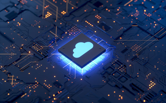 Cloud computing and network security concept, 3d rendering,conceptual image.