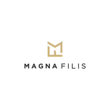 MF initial monogram logo design