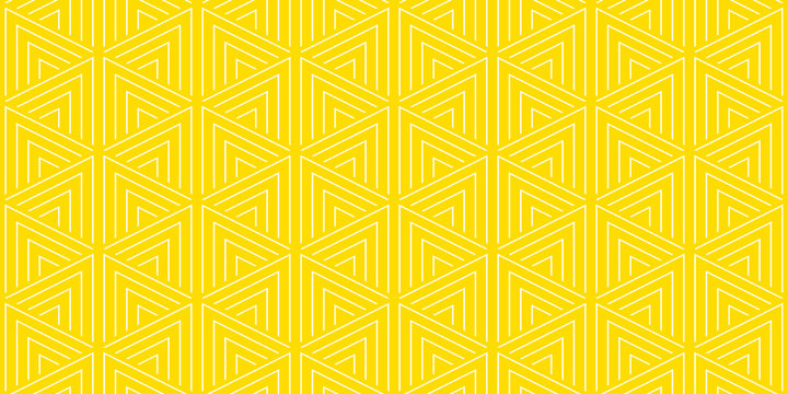 Summer background geometric triangle pattern seamless yellow and white.