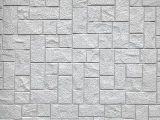 random modern design square stone brick block pattern texture wall background. Wall mural