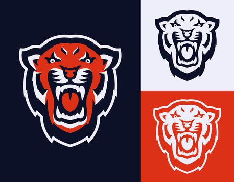 Tiger Head Mascot Multiple Versions
