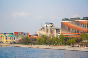 image of Moscow river embankment