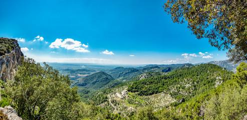 Blick vom Castell d'Alaró in die Ebene vor Palma de Mallorca