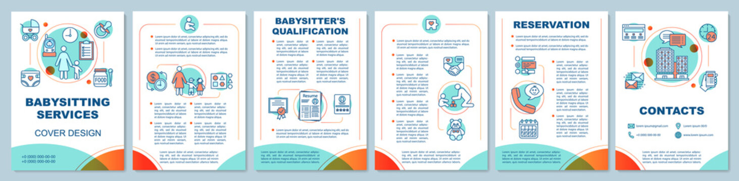 Babysitting services brochure template layout
