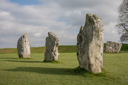 Details of stones in the Prehistoric Avebury Stone Circle, Wiltshire, England, UK