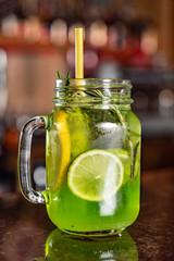 summer lemonade in the restaurant