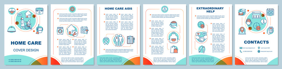 Home health care brochure template layout