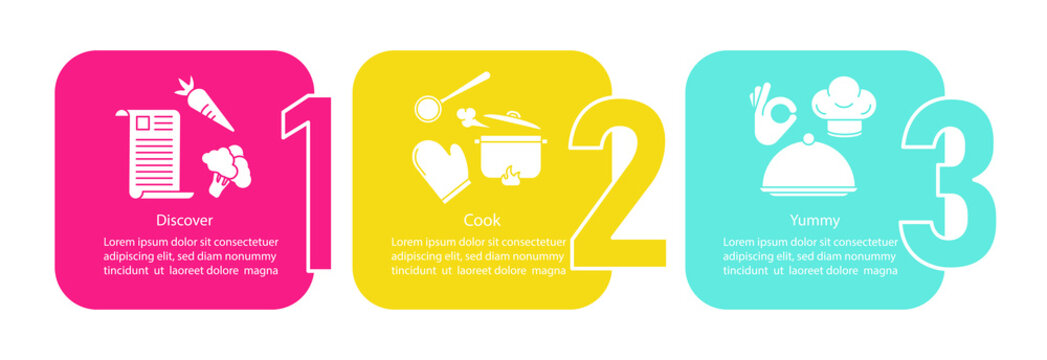 Cooking food vector infographic template