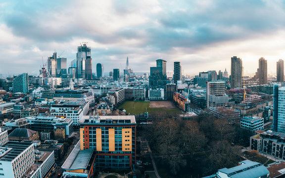 City of London financial district skyline, London